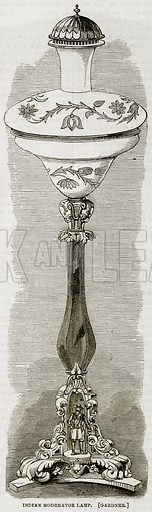 Indian Moderator Lamp. [Gardner.] Illustration in The National Magazine Vol 1 (W Kent & Co, 1859).