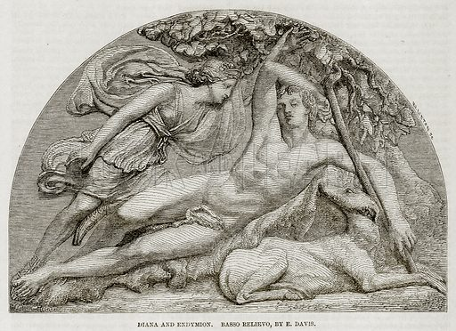 Diana and Endymion, picture, image, illustration