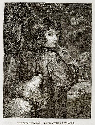 The Shepherd Boy. By Sir Joshua Reynolds. Illustration in The National Magazine Vol 1 (W Kent & Co, 1859).