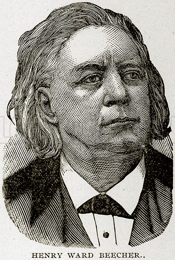 Henry Ward Beecher. Illustration from Columbus and Columbia (Manufacturers' Book Co, c 1893).