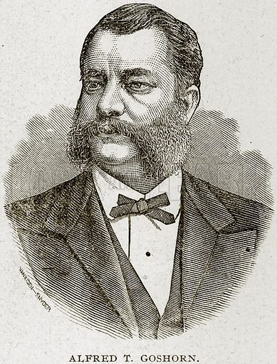 Alfred T Goshorn. Illustration from Columbus and Columbia (Manufacturers' Book Co, c 1893).