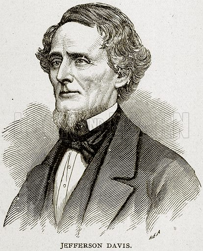 Jefferson Davis. Illustration from Columbus and Columbia (Manufacturers' Book Co, c 1893).