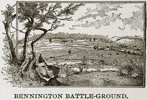 Bennington Battle-Ground. Illustration from Columbus and Columbia (Manufacturers' Book Co, c 1893).
