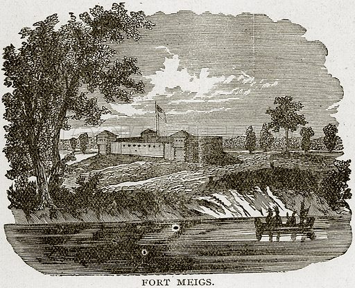 Fort Meigs. Illustration from Columbus and Columbia (Manufacturers' Book Co, c 1893).