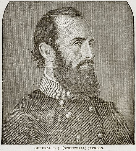 General TJ(Stonewall) Jackson. Illustration from Columbus and Columbia (Manufacturers' Book Co, c 1893).