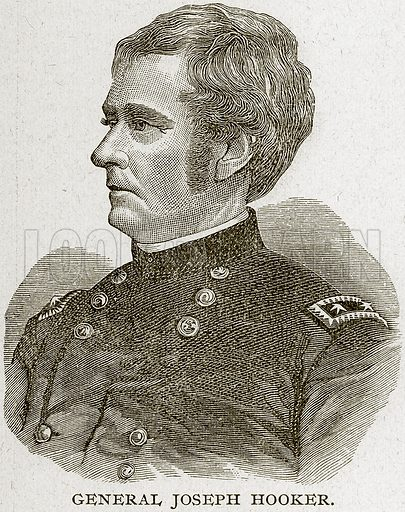 General Joseph Hooker. Illustration from Columbus and Columbia (Manufacturers' Book Co, c 1893).