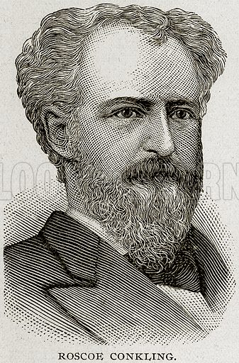 Roscoe Conkling. Illustration from Columbus and Columbia (Manufacturers' Book Co, c 1893).