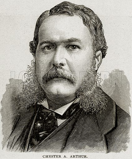 Chester A. Arthur. Illustration from Columbus and Columbia (Manufacturers' Book Co, c 1893).