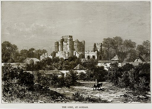 The Gimp, at Gondar. Illustration from Africa and its Inhabitants by Elisee Reclus (Virtue, c 1895).