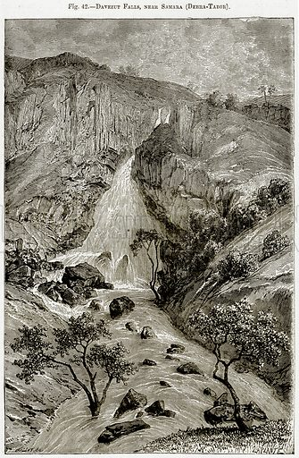 Davezut Falls, near Samara (Debra-Tabor). Illustration from Africa and its Inhabitants by Elisee Reclus (Virtue, c 1895).