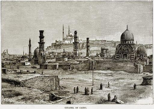 Citadel of Cairo. Illustration from Africa and its Inhabitants by Elisee Reclus (Virtue, c 1895).