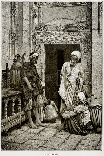 Cario Arabs. Illustration from Africa and its Inhabitants by Elisee Reclus (Virtue, c 1895).