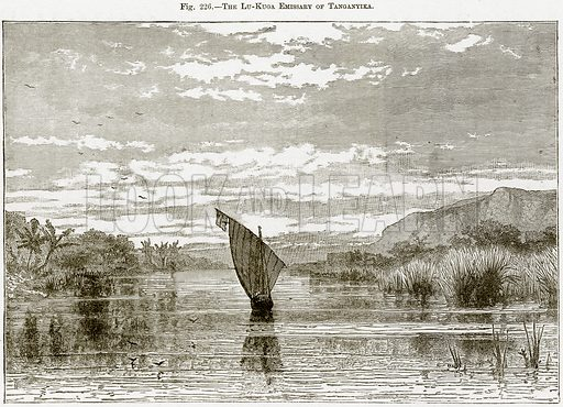 The Lu-Kuga Emissary of Tanganyika. Illustration from Africa and its Inhabitants by Elisee Reclus (Virtue, c 1895).