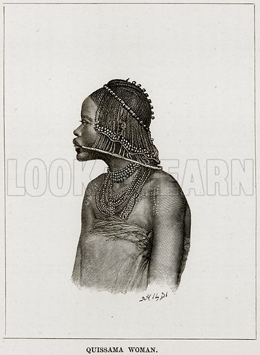 Quissama Woman. Illustration from Africa and its Inhabitants by Elisee Reclus (Virtue, c 1895).