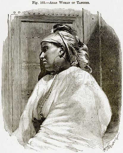 Arab Woman of Tangier. Illustration from Africa and its Inhabitants by Elisee Reclus (Virtue, c 1895).