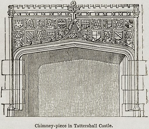 Chimney-Piece in Tattershall Castle. Illustration from The Imperial History of England (Ward Lock, 1891).