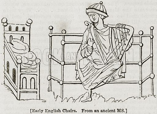 [Early English Charis.] Illustration from The Imperial History of England (Ward Lock, 1891).