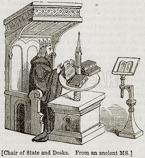 [Charis of State and Desks.] Illustration from The Imperial History of England (Ward Lock, 1891).