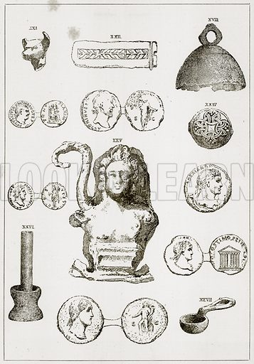 Roman Antiquities. Illustration from The Imperial History of England (Ward Lock, 1891).