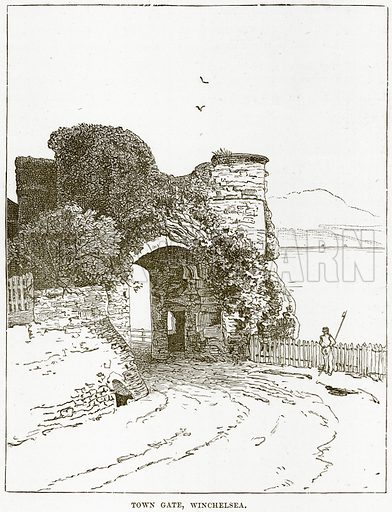 Town Gate, Winchelsea. Illustration from Our Own Country (Cassell, c 1890).