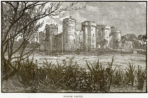 Bodiam Castle. Illustration from Our Own Country (Cassell, c 1890).