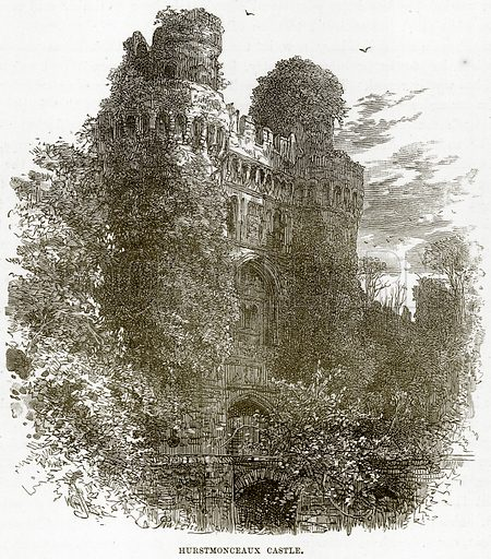 Hurstmonceaux Castle. Illustration from Our Own Country (Cassell, c 1890).