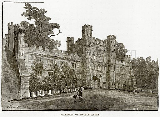 Gateway of Battle Abbey. Illustration from Our Own Country (Cassell, c 1890).