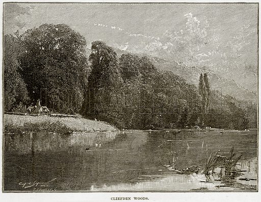 Cliefden Woods. Illustration from Our Own Country (Cassell, c 1890).
