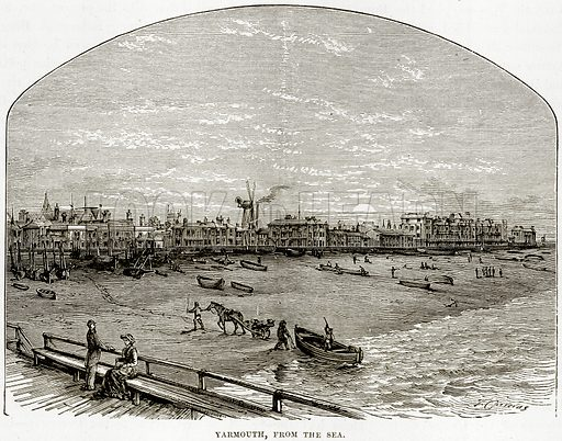Yarmouth, from the Sea. Illustration from Our Own Country (Cassell, c 1890).