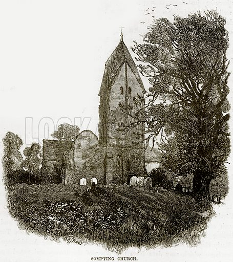Sompting Church. Illustration from Our Own Country (Cassell, c 1890).