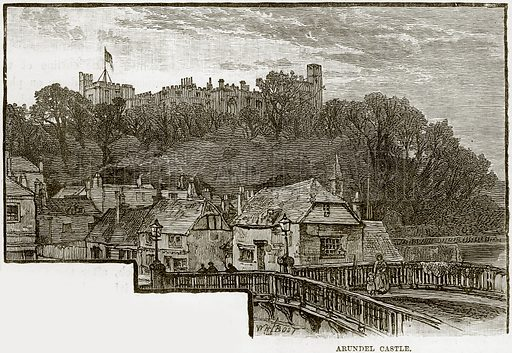 Arundel Castle. Illustration from Our Own Country (Cassell, c 1890).