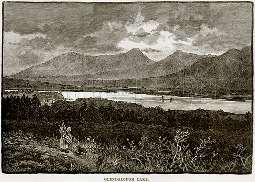 Glendalough Lake. Illustration from Our Own Country (Cassell, c 1890).