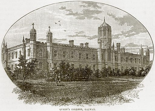 Queen's College, Galway. Illustration from Our Own Country (Cassell, c 1890).