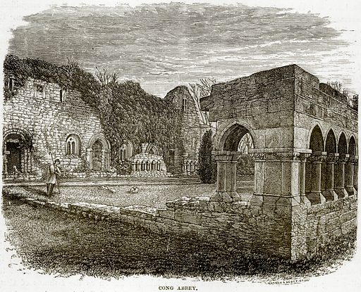 Cong Abbey. Illustration from Our Own Country (Cassell, c 1890).