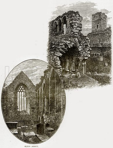 Sligo Abbey. Illustration from Our Own Country (Cassell, c 1890).