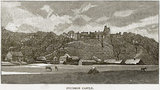 Prudhoe Castle. Illustration from Our Own Country (Cassell, c 1890).