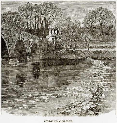Coldstream Bridge. Illustration from Our Own Country (Cassell, c 1890).
