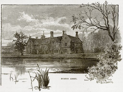 Burton Abbey. Illustration from Our Own Country (Cassell, c 1890).