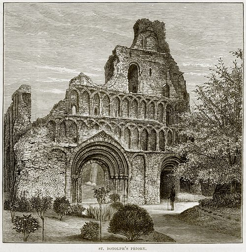 St Botolph's Priory. Illustration from Our Own Country (Cassell, c 1890).