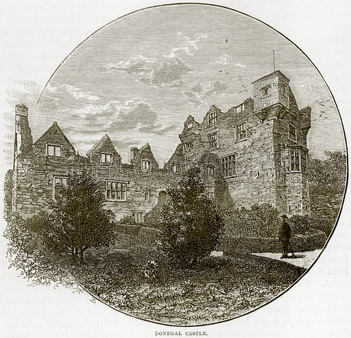 Donegal Castle. Illustration from Our Own Country (Cassell, c 1890).