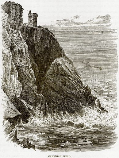 Carrigan Head. Illustration from Our Own Country (Cassell, c 1890).