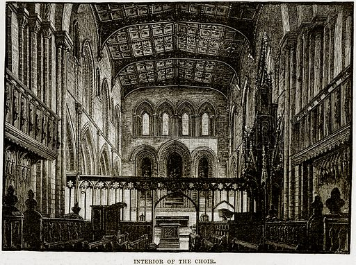 Interior of the Choir. Illustration from Our Own Country (Cassell, c 1890).
