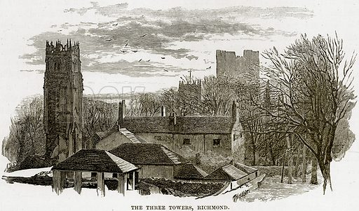 The Three Towers, Richmond. Illustration from Our Own Country (Cassell, c 1890).