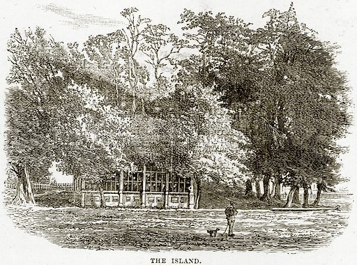 The Island. Illustration from Our Own Country (Cassell, c 1890).