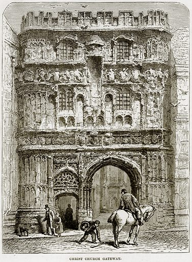 Christ Church Gateway. Illustration from Our Own Country (Cassell, c 1890).