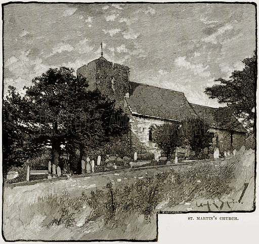 St Martin's Church. Illustration from Our Own Country (Cassell, c 1890).
