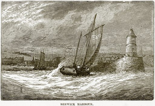 Berwick Harbour. Illustration from Our Own Country (Cassell, c 1890).