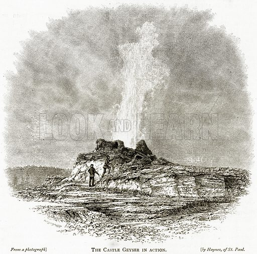 The Castle Geyser in Action. Illustration from United States Pictures by Richard Lovett (Religious Tract Society, 1891).