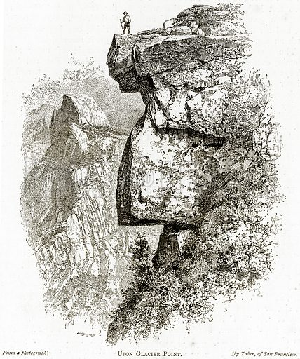 Upon Glacier Point. Illustration from United States Pictures by Richard Lovett (Religious Tract Society, 1891).
