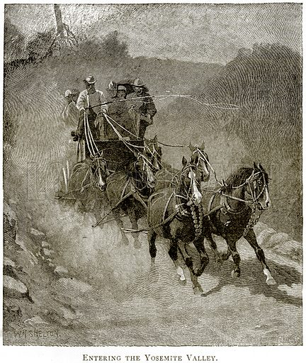Entering the Yosemite Valley. Illustration from United States Pictures by Richard Lovett (Religious Tract Society, 1891).